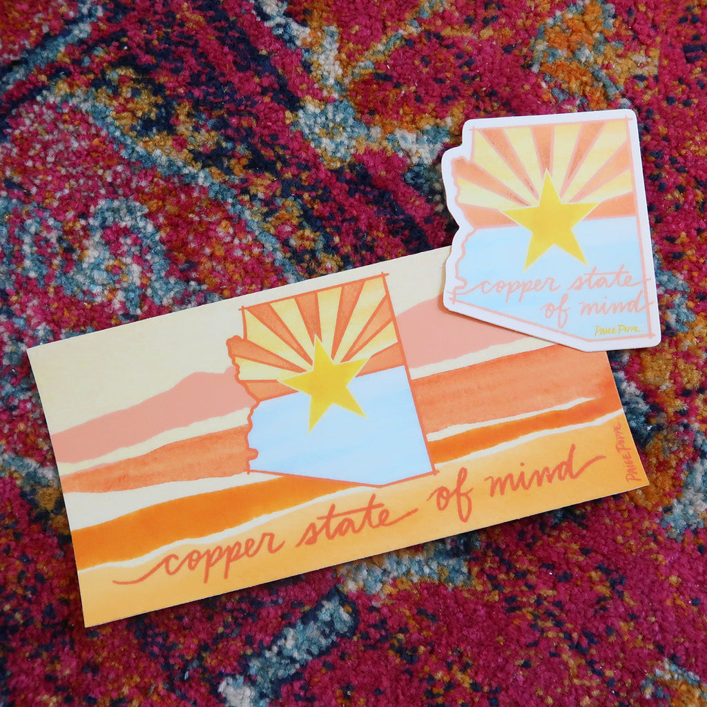 """Copper State of Mind"" Diecut Sticker"