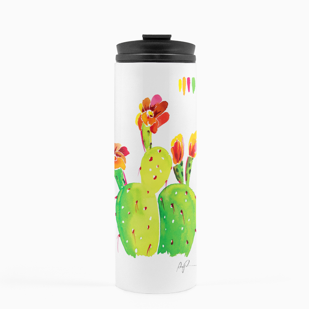 """Technicolor Blossoms"" Thermal Tumbler"