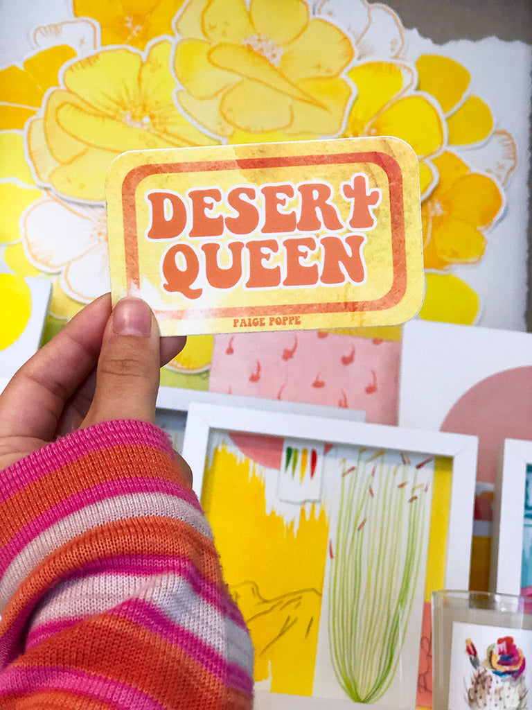 """Desert Queen"" Sticker"