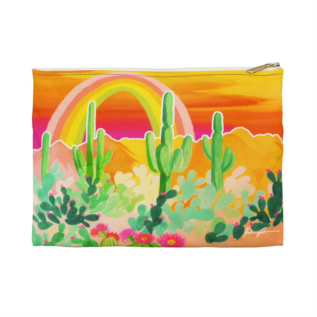"""Rainbow Desert"" Patterned Pouches"