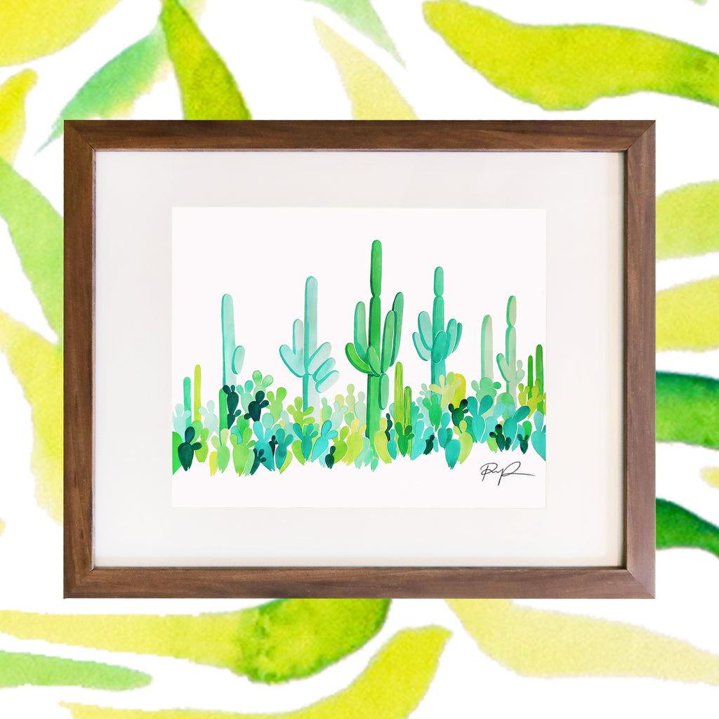 """Emerald Valley"" Watercolor Print"