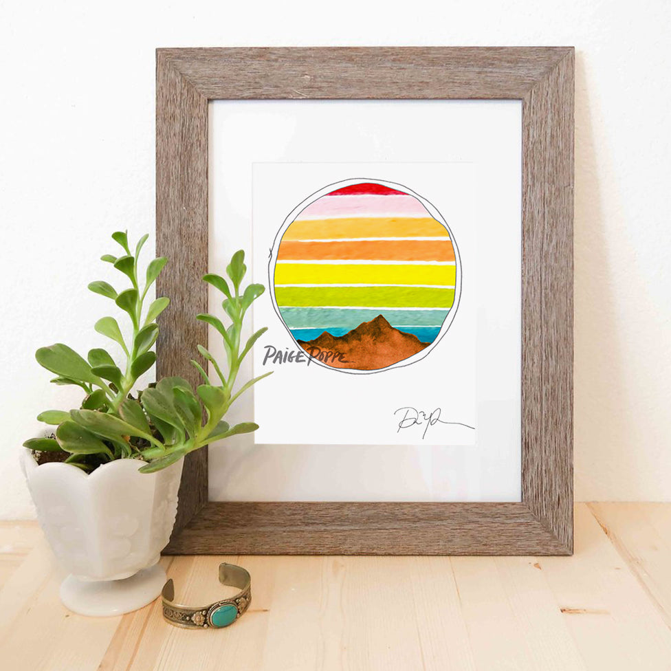 """Explore the Outdoors"" Watercolor Print"