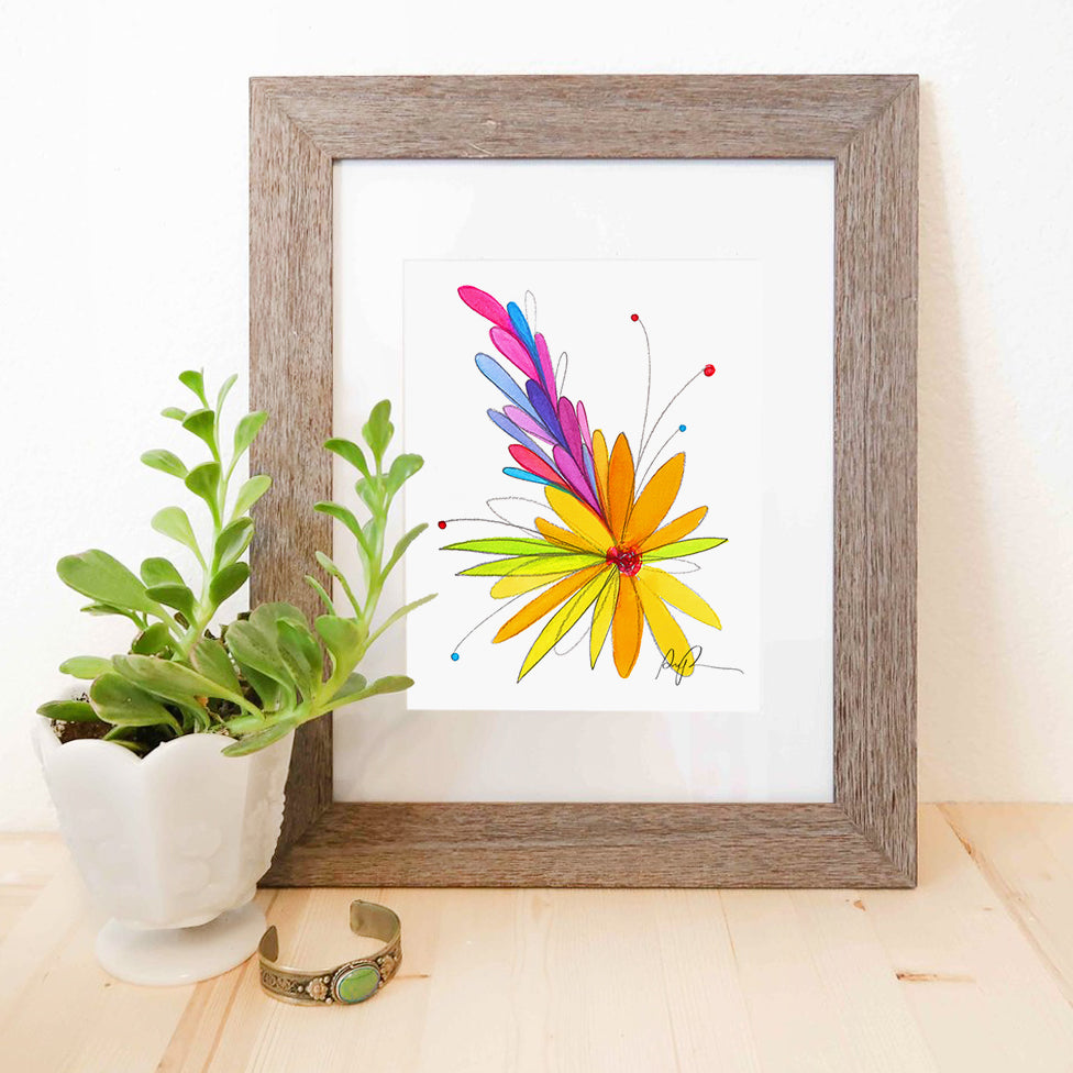 """Fresh Bloom"" Watercolor Print"