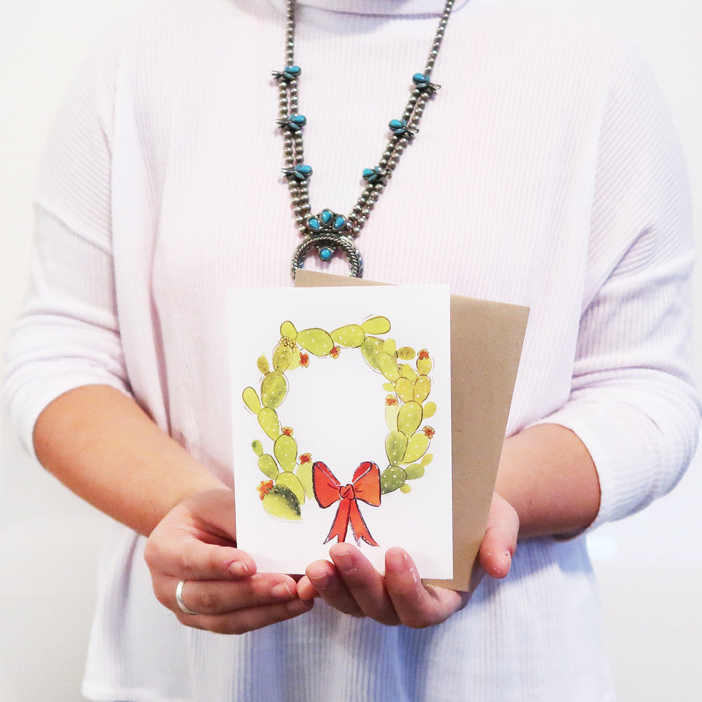 """Cacti Wreath"" Holiday Card"