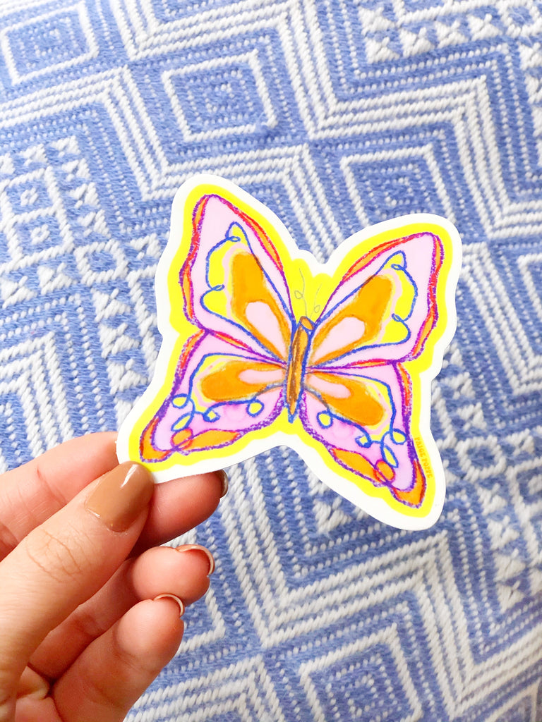 """Butterfly Babe"" Sticker"