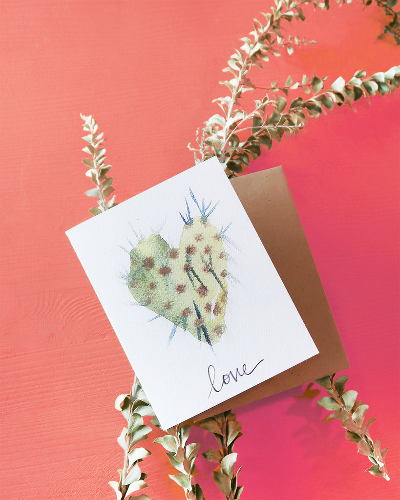 """Love"" Cactus Greeting Card"