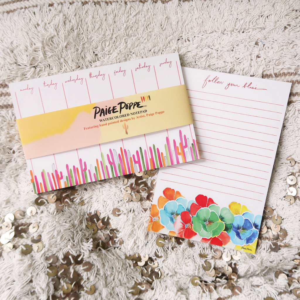 """Follow Your Bliss"" Lined Notepad"