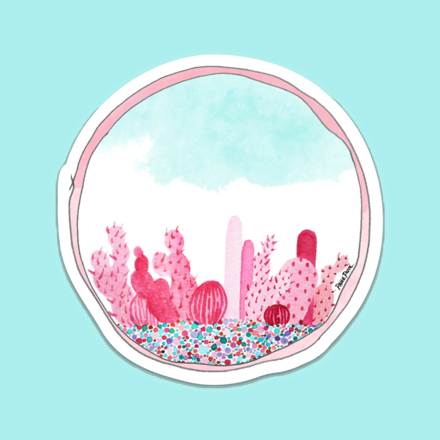 """Prickly in Pink"" Sticker"