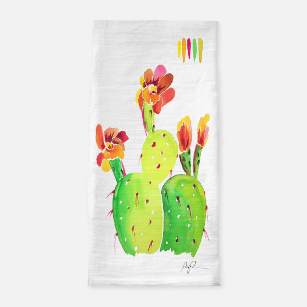 """Technicolor Blossoms"" Tea Towel"