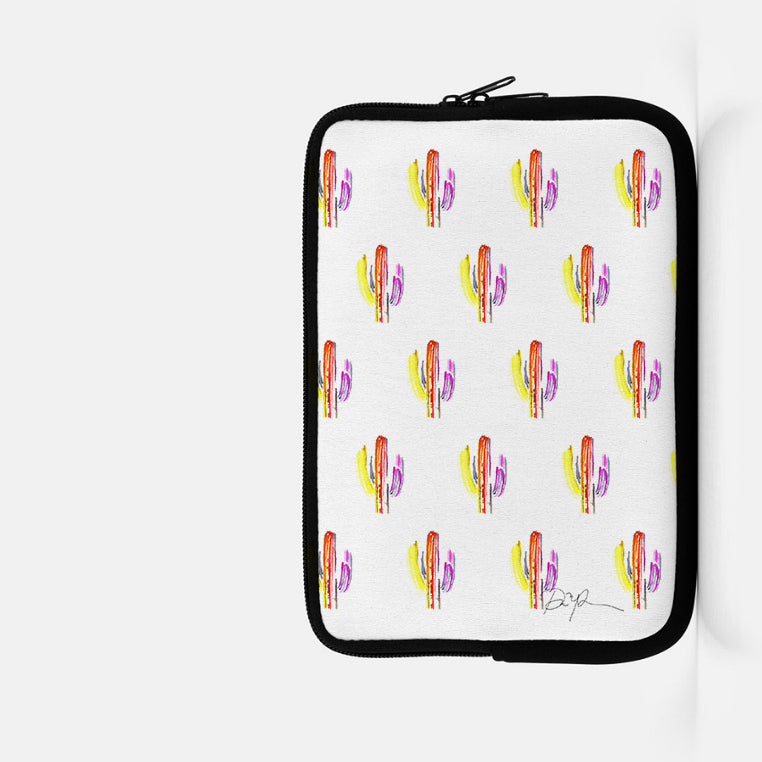 """Technicolor Saguaro"" iPad Mini or Kindle Sleeve"