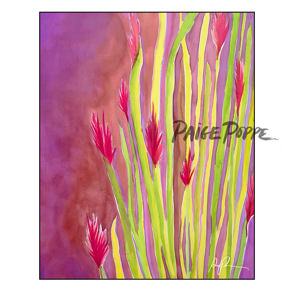 """Vibrant Ocotillo"" Watercolor Print"