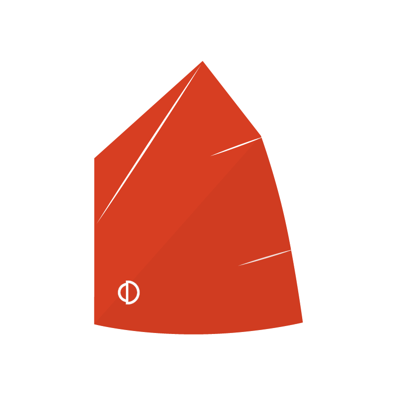 Optimist mainsail for young sailors between  36 - 42 kg.