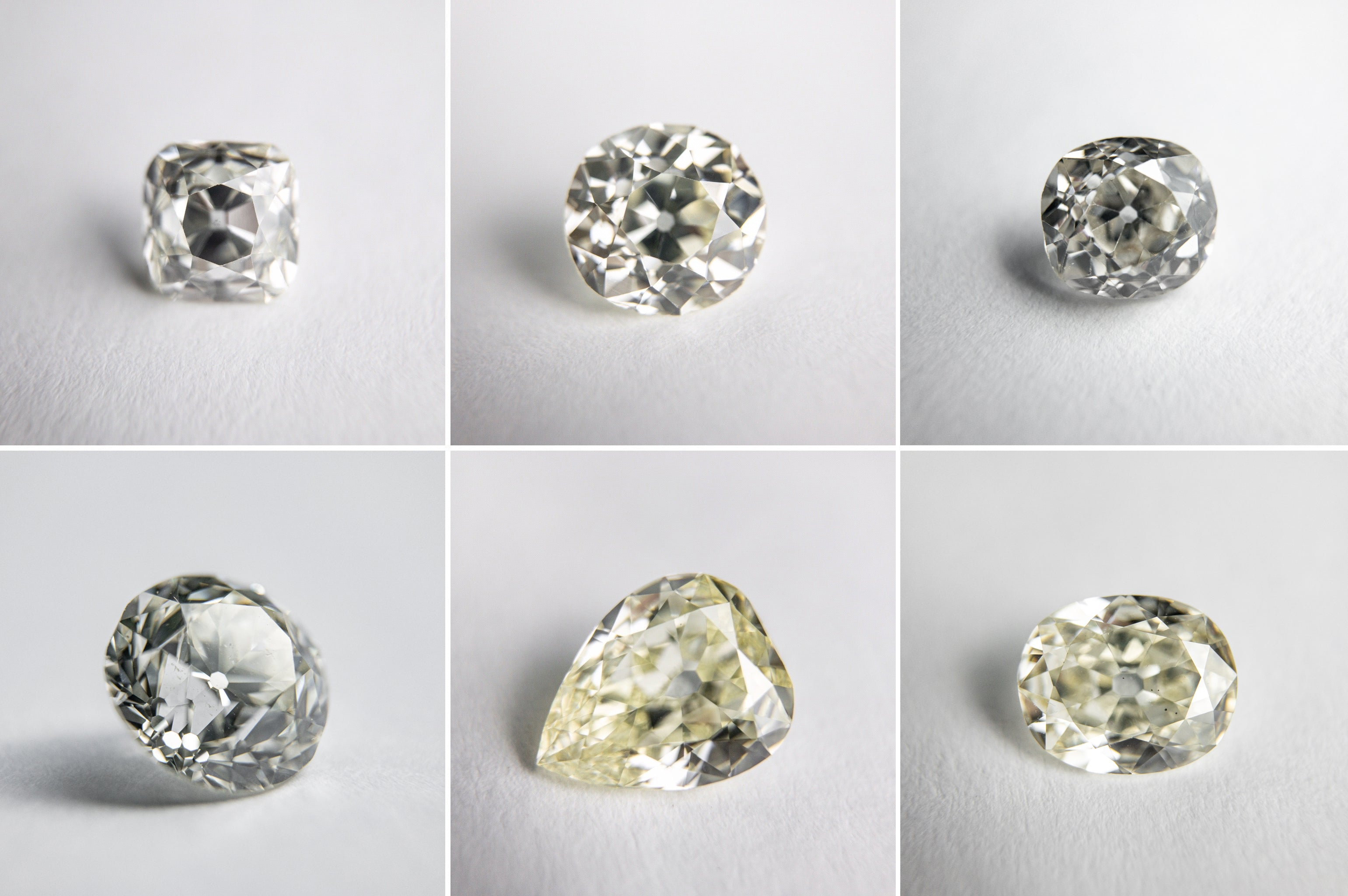 antique diamonds, old mine cut, old European cut