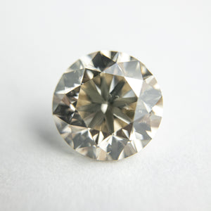 2.40ct 8.37x8.28x5.40mm GIA SI1 Light Champagne Round Brilliant 18098-01