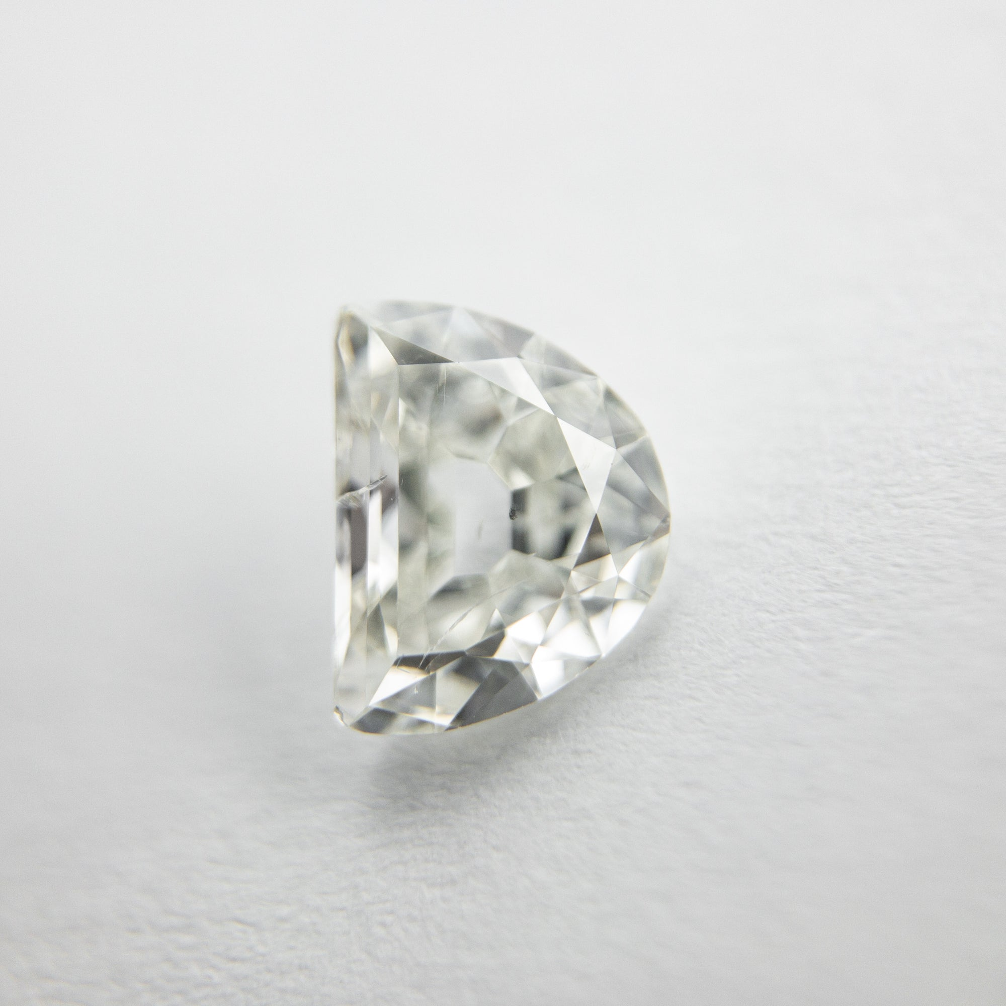 0.85ct 6.99x5.39x2.71mm Half Moon Modern Antique Cut 18129-10