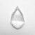 0.90ct 10.65x6.60x1.63mm SI1 E Geo Pear Rosecut 18218-07