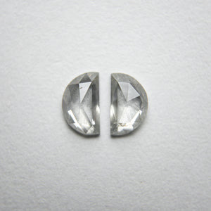 2pc 0.50cttw 5.42x3.22x1.53mm Half Moon Rosecut Matching Pair 18236-07