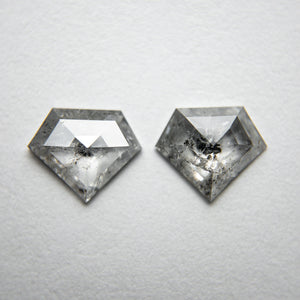 2pc 0.85cttw 5.72x6.69x1.66mm Shield Rosecut Matching Pair 18236-10