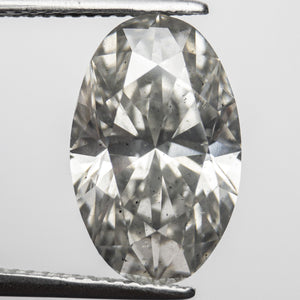 6.22ct 15.14x9.74x6.45mm GIA SI2 Light Grey Oval Brilliant 18274-01