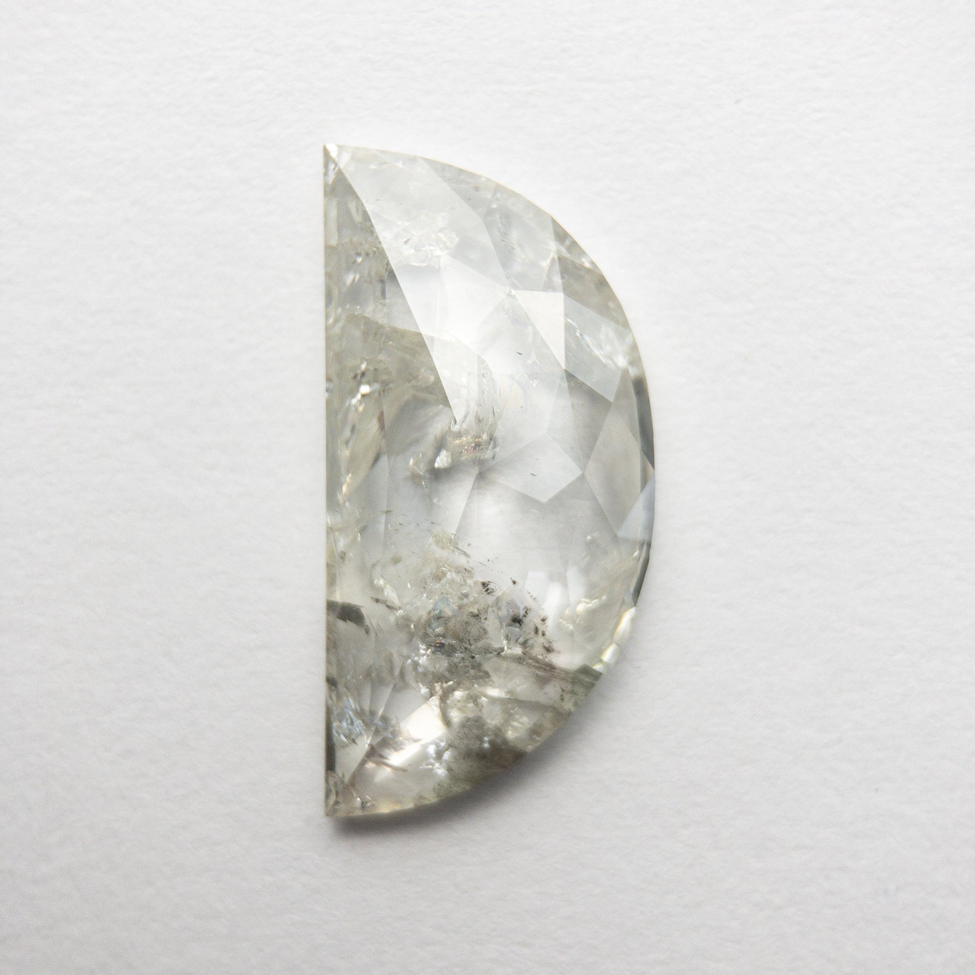 3.49ct 16.73x8.29x2.72mm Half Moon Rosecut 18530-17