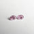 2pc 0.23cttw 3.73x2.55x1.65mm Argyle GIA Fancy Intense Purplish Pink Oval Brilliant Matching Pair 18684-01