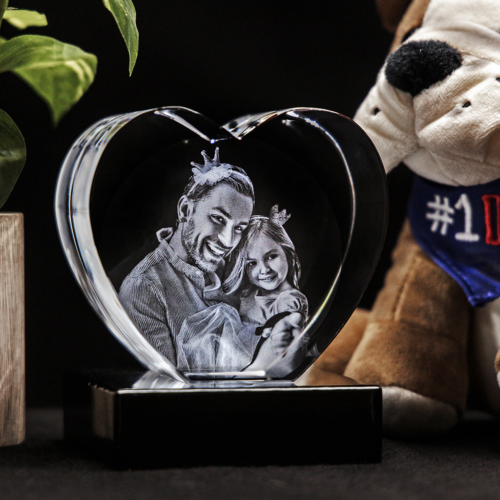 3D Laser Gifts Father's Day Custom 3D Crystal