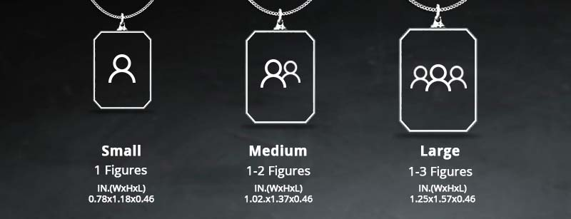 Size Chart - Crystal Necklace Rectangle
