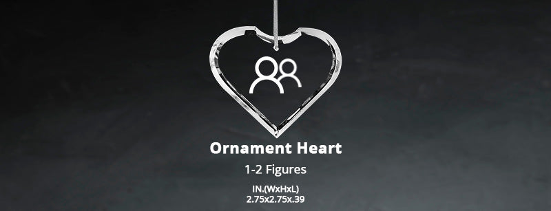 Size Chart - Crystal Ornament Heart