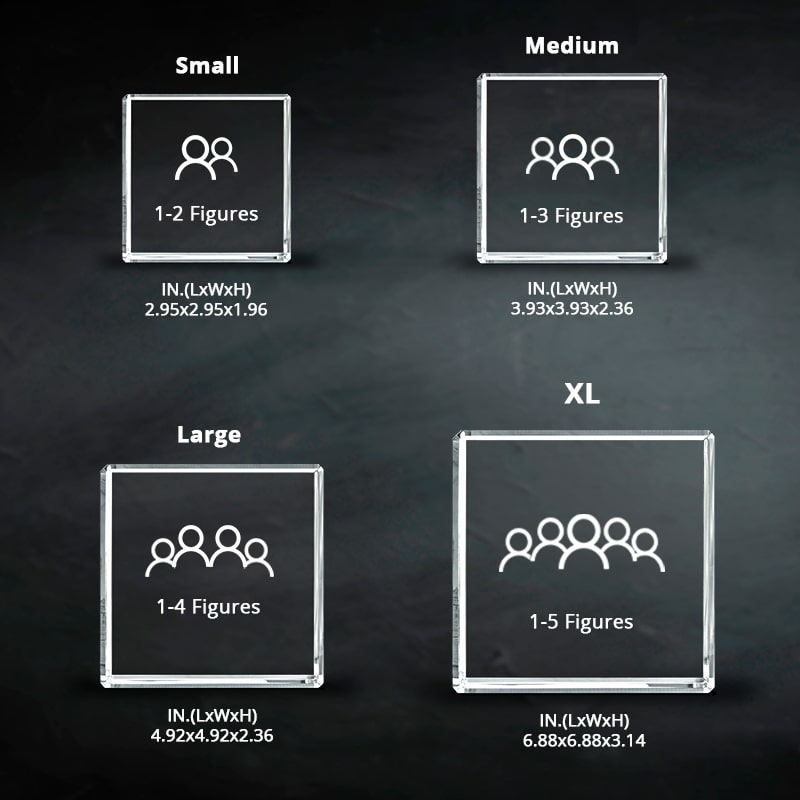 Size Chart - Crystal Square