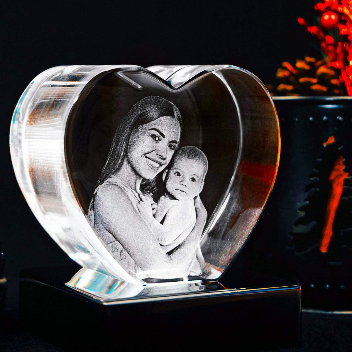 3D Crystal Heart | 3D Laser Gifts