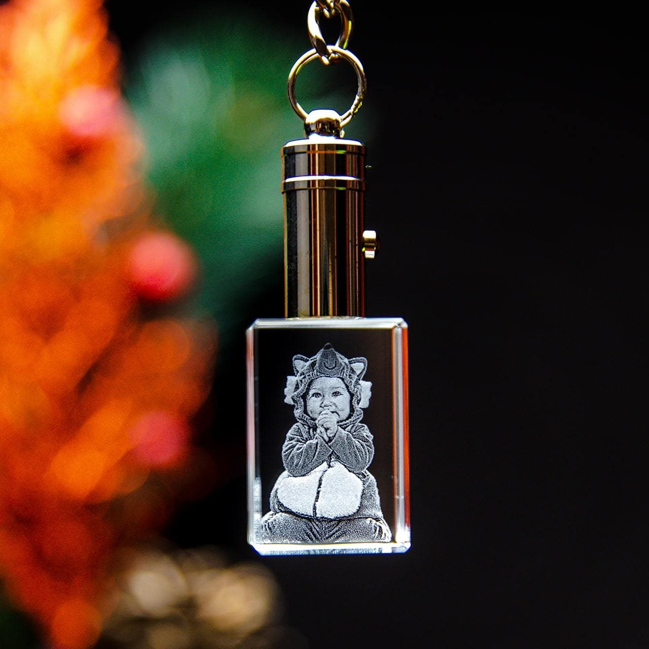 Crystal Keychain Rectangle | 3D Laser Gifts
