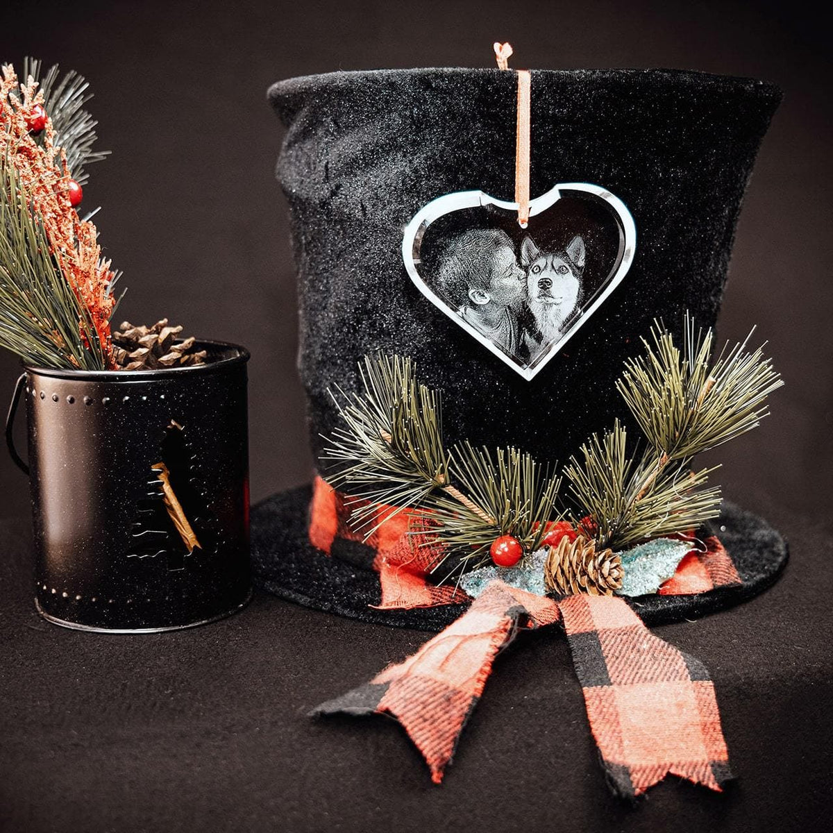 Crystal Ornament Heart | 3D Laser Gifts