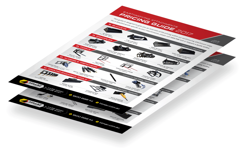 Get your Attachments Pricing Guide - Himac Attachments
