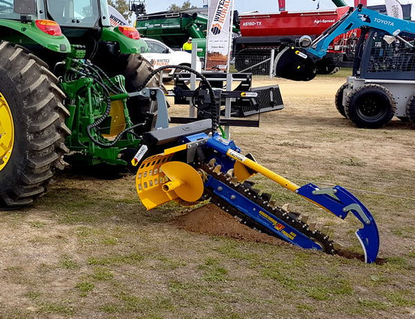 Three Point Linkage Tractor : Point linkage tractor chain trencher himac skid steer
