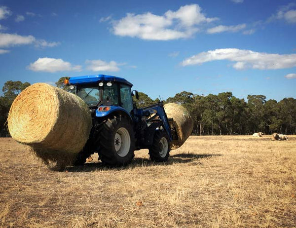 No height adjustment needed for the 3PL HaySpin Bale Spinner