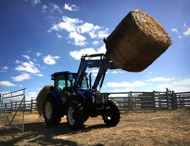Use our Hay Forks to carry a second bale for feeding