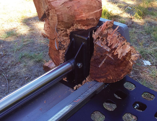 Splits all Australian hardwood - Petrol Log Splitter