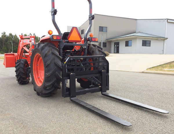 3 Point Forks : Pallet forks for point linkage tractors himac skid