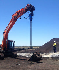 25000 MAX Auger Drive, 3m extension & Rock Auger setup for an Excavator