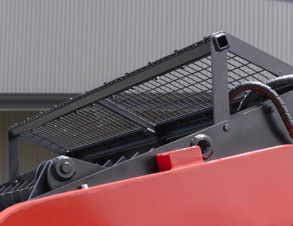 Rear spill guard for protection while retaining visibility
