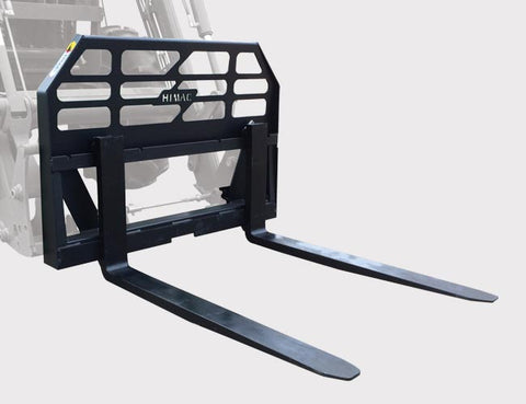 Compact Tractor Pallet Forks | Himac Skid Steer Attachments