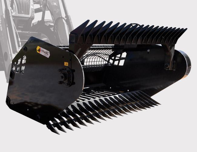 Standard Rock Picker - suitable for Tractor Loaders under 100 HP