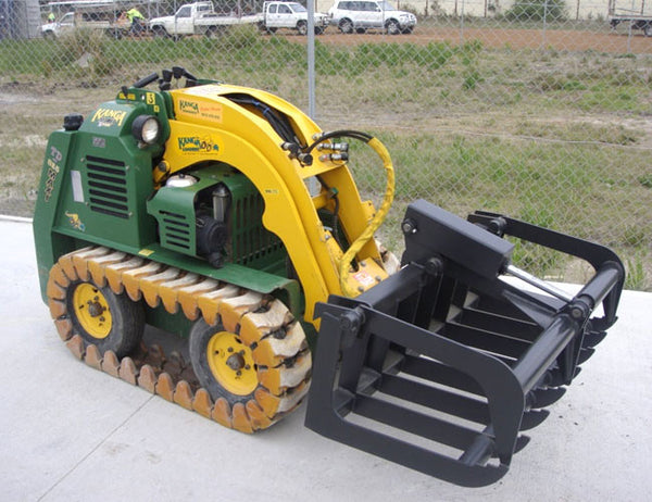 Himac Brush Root Grapple - designed for mighty mini loaders
