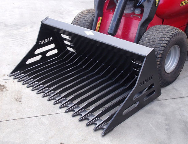 Himac Rock Bucket (Rake Bucket / Sieve Bucket) for Mini Loaders
