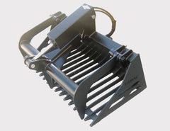 Himac Mini Loader Rock Bucket with optional fitted grapple