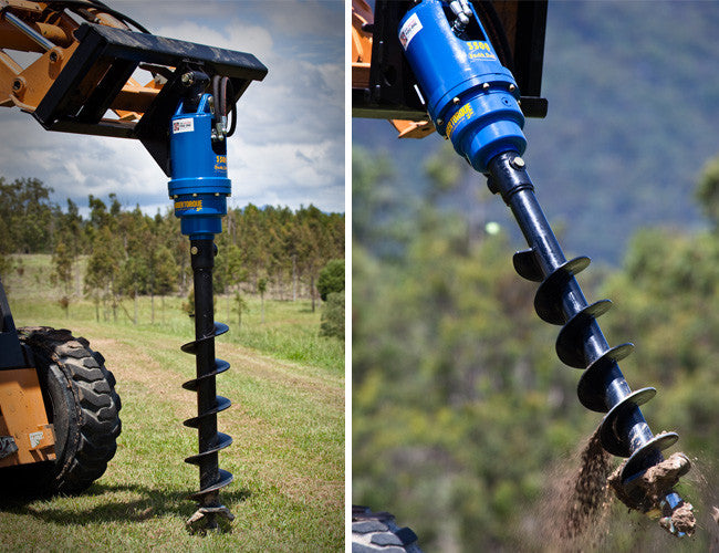 S4 Auger paired with a Himac Skid Steer Auger Drive