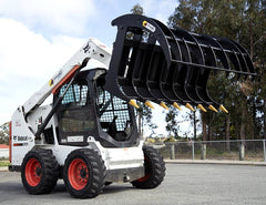 Himac Skid Steer with Claw Grapple attachment
