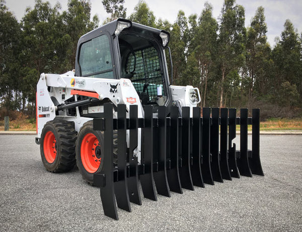 Use this innovative attachment as a standalone Stick Rake