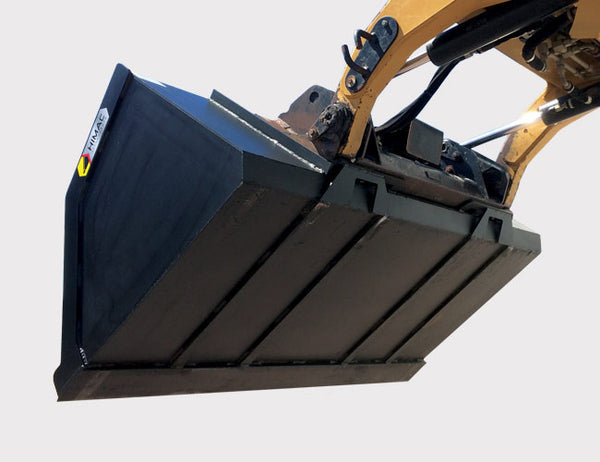 Reinforced base on the Skid Steer High Capacity Bucket