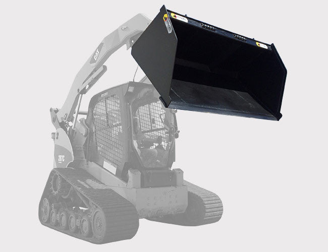 "High Capacity Bucket - models range from 66"" to 90"""